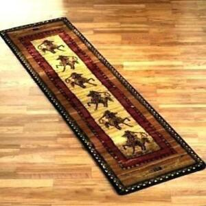 "2x8 (1'11"" x 7'4"") Western Horse Cowboy Steer Horn Area Rug **FREE SHIPPING**"