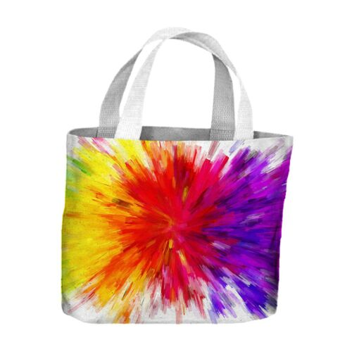 Abstract Rainbow Colour Explosion Tote Shopping Bag For Life