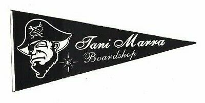 "TANI MARRA BOARD SHOP STICKER  ~  5/"" Pirate Pennant Logo Snowboard Ski Decal"