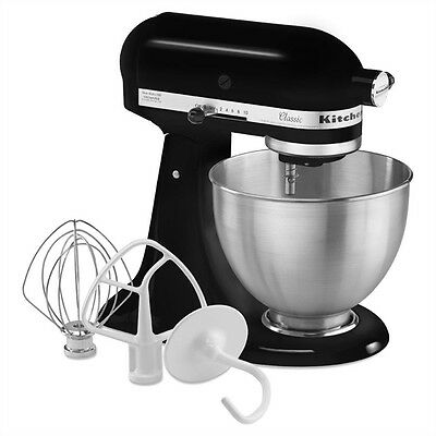KitchenAid Classic 4.5-Quart 10-Speed Black Stand Mixer