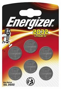 GENUINE ENERGIZER 6 X CR2032 3V LITHIUM COIN CELL BATTERY DL2032, BR2032 SB-T15 7638900413335
