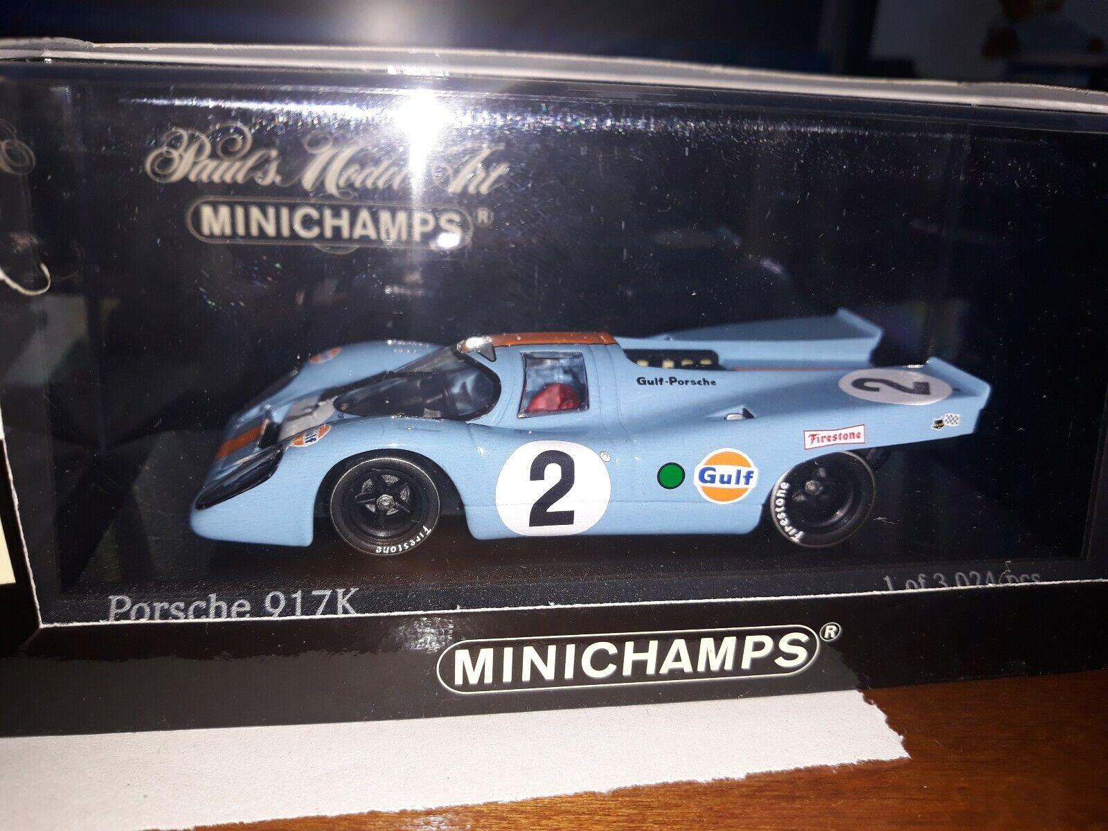 Minichamps 1 43 Porsche 917K  2 Winner 24h Daytona 1970 Gulf