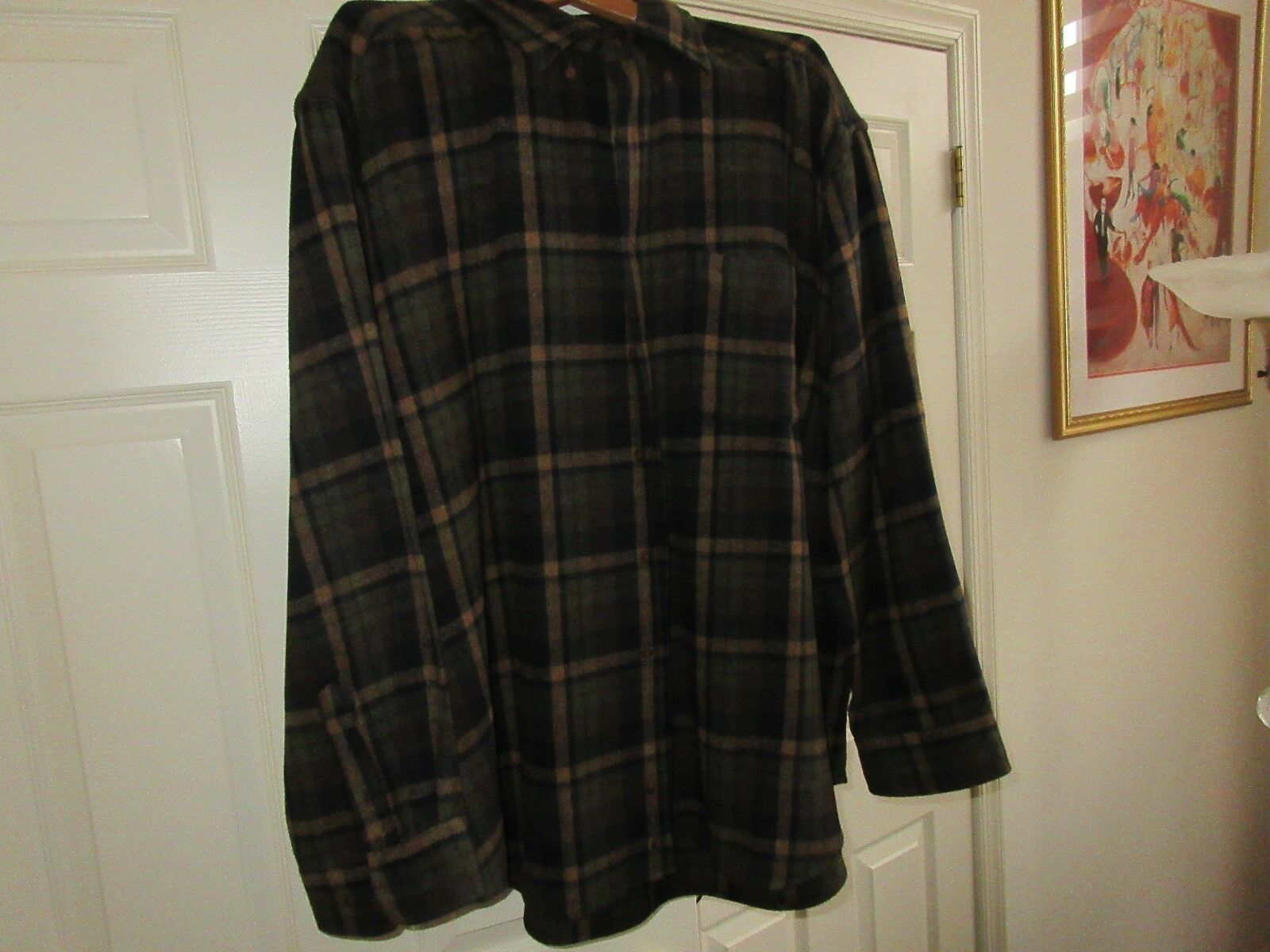 G.H. Bass & Co. , Shirt/Jacket ,Vintage , Brown Plaid ,