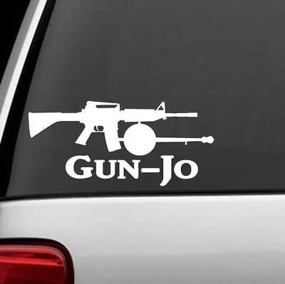 G1056 AR15 Gunjo Gun Banjo Parody Decal Sticker Assault Weapon for Car Truck sup