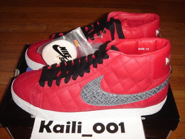Nike Blazer SB Supreme Size 12 Red 313962-601 WTD Paris Black White D