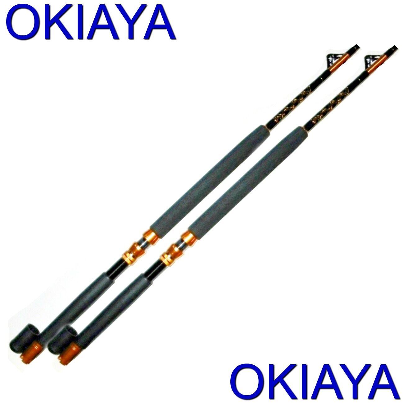 Saltwater Cañas de pesCoche 30-50LB (2 Pack) Okiaya  Slayer  postes para Penn Shimano