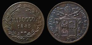 Ambitieux Pci1249) Stato Pontificio Gregorio Xvi Baiocco 1845 Roma