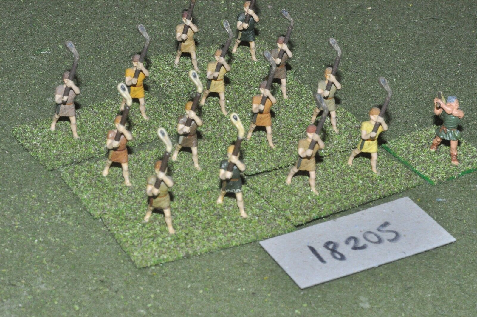 25mm classical   greek - ancient staff slingers 15 figs - inf (18205)