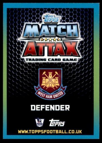 Match Attax 2015-2016 West Ham United Winston Reid jugador estrella Nº 346