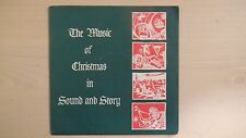 """THE MUSIC OF CHRISTMAS IN SOUND AND STORY RCA Christianity Today 7"""" 33RPM 1965"""
