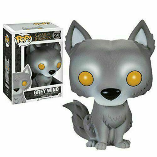 10CM Funko Pop Game of Thrones Grey Wind Wolf Action Figure Ice Wolf Model #23