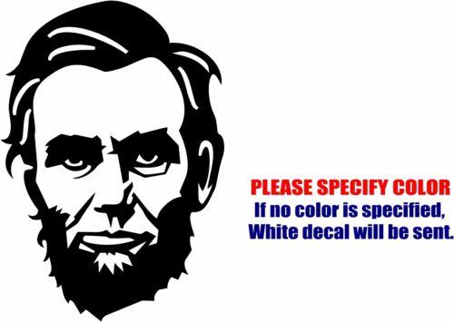 """Le président Abraham Lincoln Decal Sticker JDM Drôle Vinyle Voiture Fenêtre Pare-chocs 7/"""""""