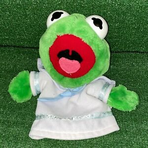 Vintage-1988-Dakin-Henson-The-Muppets-Kermit-The-Frog-Plush-Hand-Puppet