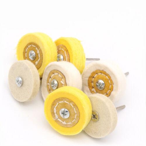 3mm Shank 50mm Cloth Polishing Wheel wool Abrasive Grinding Mop For Rotary Tool