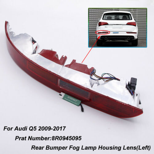 Left Side Car Lower Reflector Rear Tail Bumper Light Lamp Red For Audi Q5 2009