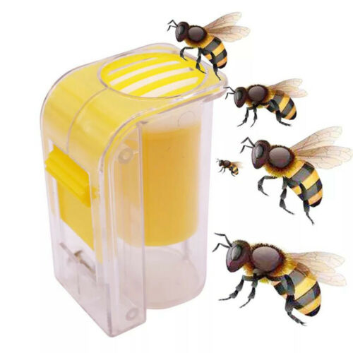 Beekeepers One Handed Plunger Plush Bee Queen Marking Catcher Marker Bottle Cage