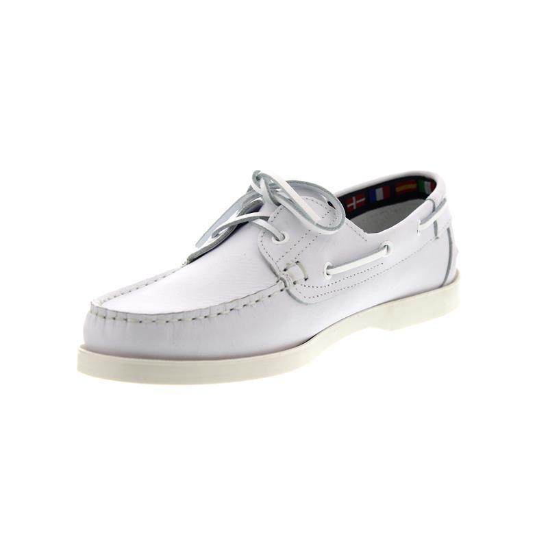Newport Yachting, blanc, en cuir lisse 48031606