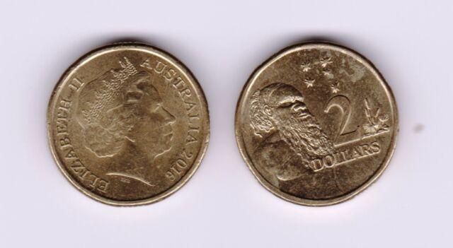 2016 Australian $2 Coin - Aboriginal Elder - You Are Buying 1 $2 Coin.