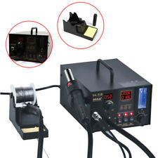 Soldering Rework Station 968a Solder Iron Smd Hot Air Gun Smd Fume Extractor