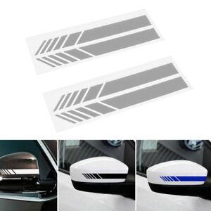 2x-Adesivo-Sticker-Decorativo-Specchietto-Retrovisore-Per-Auto-Bianco