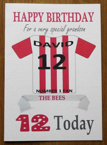 """Brentford fan officieux personnalisé football carte d/'anniversaire /""""les abeilles/"""""""