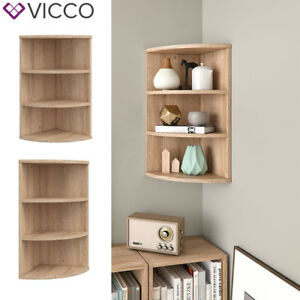 vicco eckregal ecki 0 5 sonoma eiche wandregal winkelregal k chenregal badregal ebay. Black Bedroom Furniture Sets. Home Design Ideas
