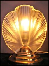 Highly Stylish French 1930s Art Deco glass lamp by Pierre d'Avesn