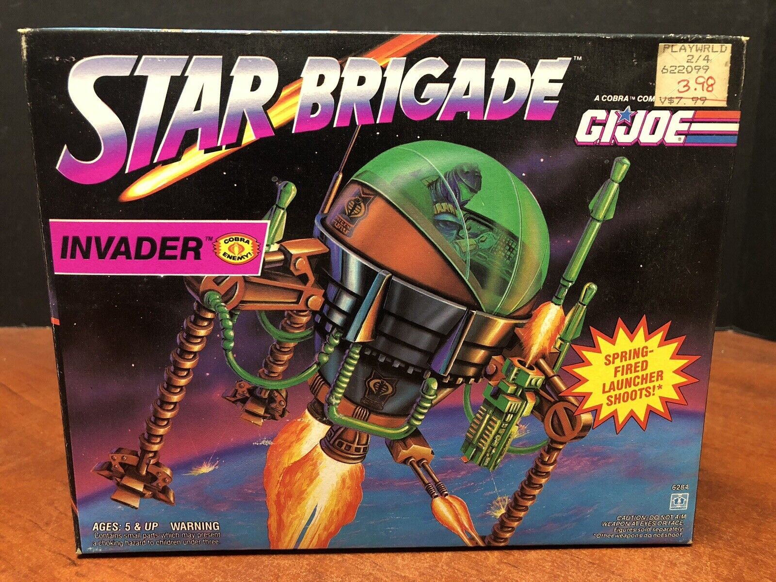 GI Joe 1993 estrella Brigade Invader Sealed Dela0279