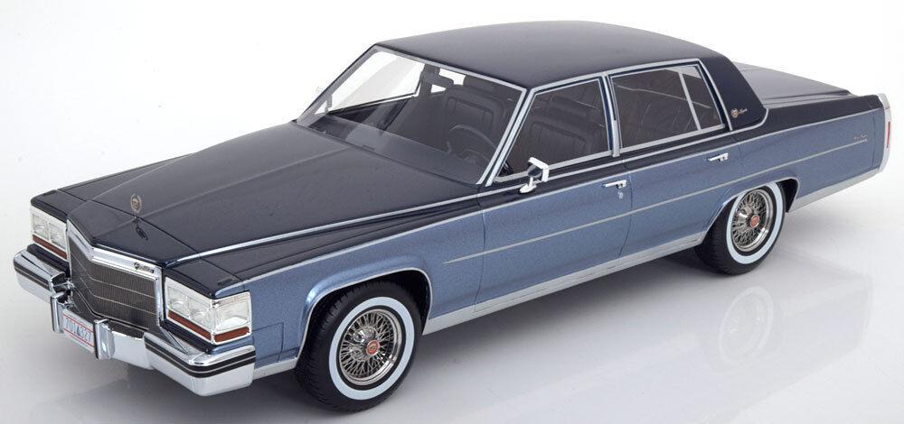 1982 Cadillac Fleetwood Brougham Light blu/Dark blu by BoS Models LE 504 1/18