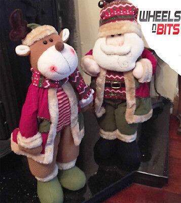 """21"""" Santa & Renne Set Stand Morbido Peluche Decorazioni Di Natale Ornamento Set 163-mostra Il Titolo Originale"""