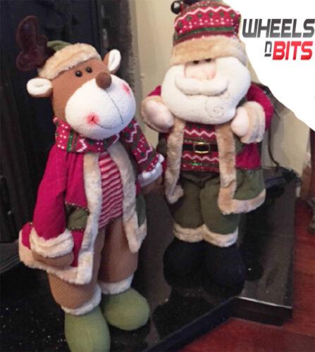 Nouveau Mignon Santa & Renne Set 21 Debout Décoration De Noël Ornement Set 163
