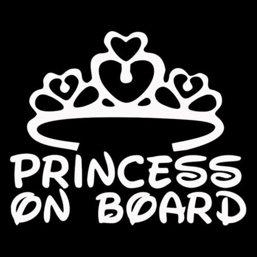 Decals Girl Customize Baby Car Sign Decal PRINCESS ON BOARD Stickers