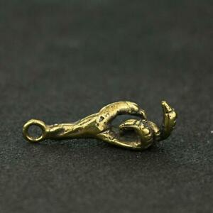 Antique-Brass-Claw-Pendant-Small-Statue-Ornament-Collectible-Craft-Pocket-Gifts