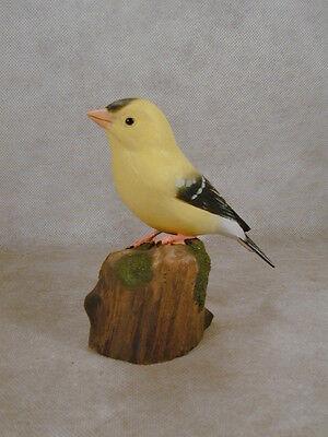 American Goldfinche Original Wood Carving