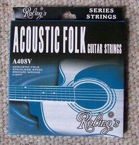 Roling-039-s-A408V-muta-completa-da-6-corde-012-053-per-chitarra-Folk-Acustica