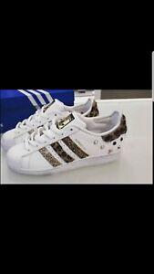 Adidas Borchie Scarpe Strisce Glitterate E Con Tessuto Super Star Maculato 7xAHwZdTq