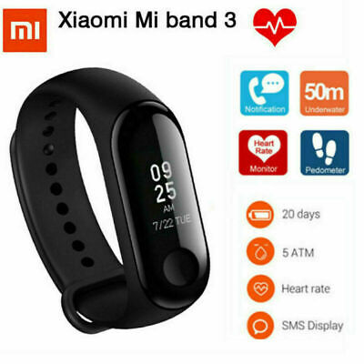 Xiaomi MiBand 3 Curved Smart Sport Watch Fitness Wristband Bracelet OLED Display