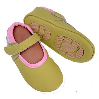 Pantofole's Baby Scarpe Pantofole Liya - #692 Ballerine In Giallo Verde- Elegante E Grazioso
