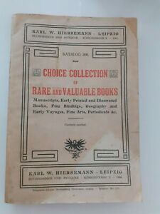 KARL-W-HIERSEMANN-LEIPZIG-CHOICE-COLLECTION-RARE-AND-VALUABLE-BOOKS-1904