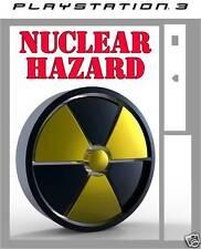 PlayStation 3 NUCLEAR HAZARD Vinyl sticker skin ps3 autocollant