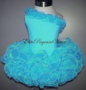 National Pageant Dress Shell  sizes 6mos to 3//4 Toddler Turquoise