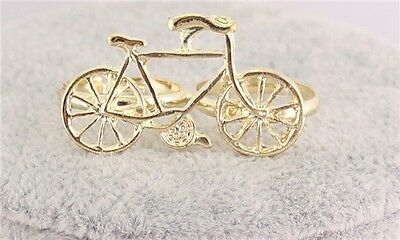 JLM's New Charm Gold Plated Cute bicycle Shaped Finger Rings Adjustable