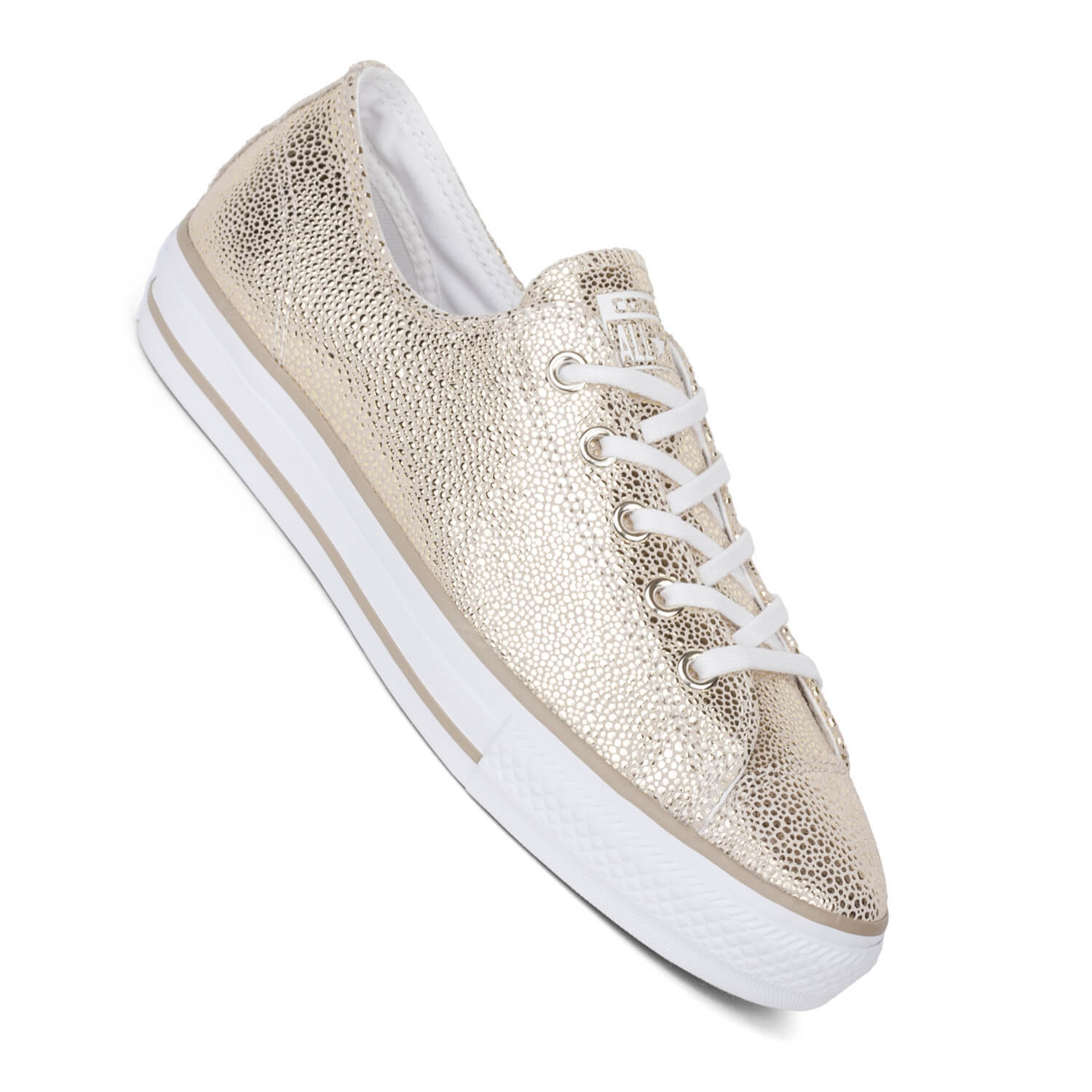 Converse Chucks Lo High Line Metallic gold - Structured Ladies Leather Trainers