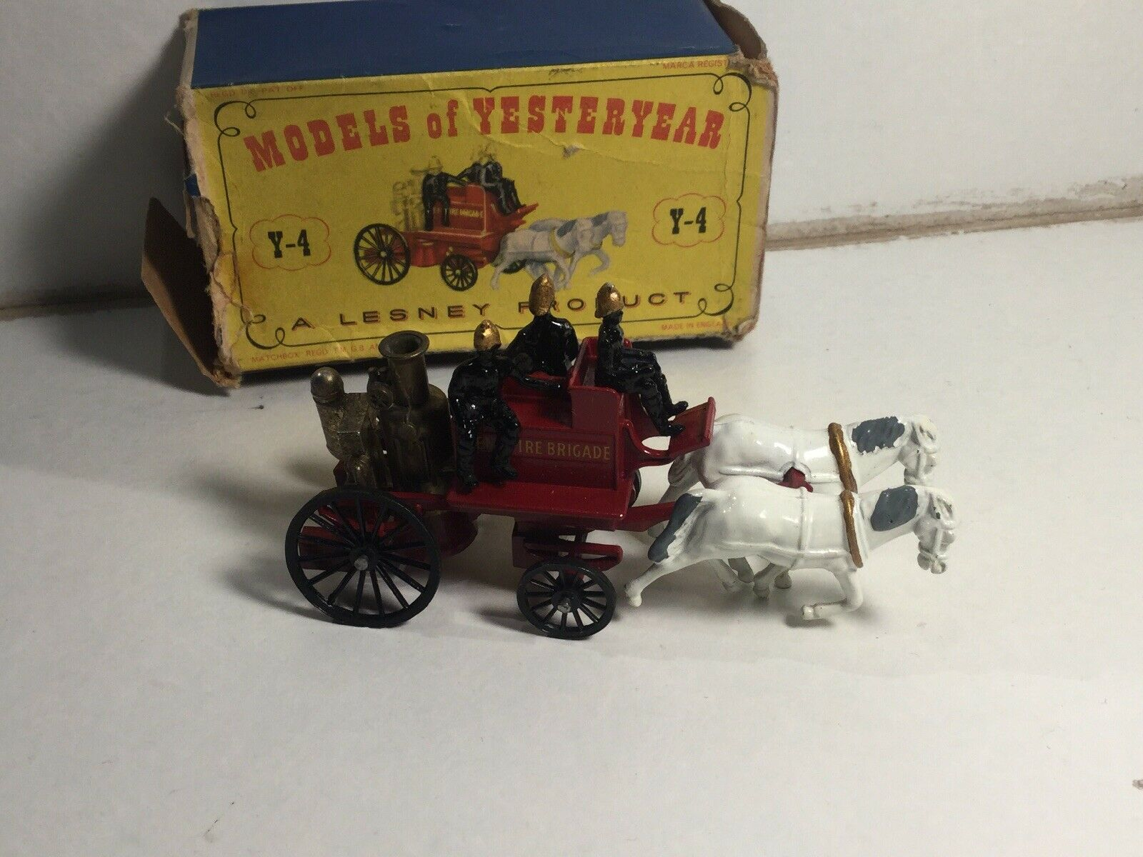 Matchbox Models of Yesteryear No Y-4 Kent Horse Drawn Fire Engine Near MintBoxed