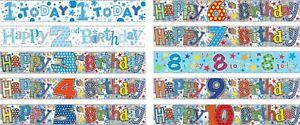 Banners-Cumpleanos-Ninos-edad-1-2-3-4-5-6-7-8-9-10-Ninos-Azul-Multi-decoraciones-se