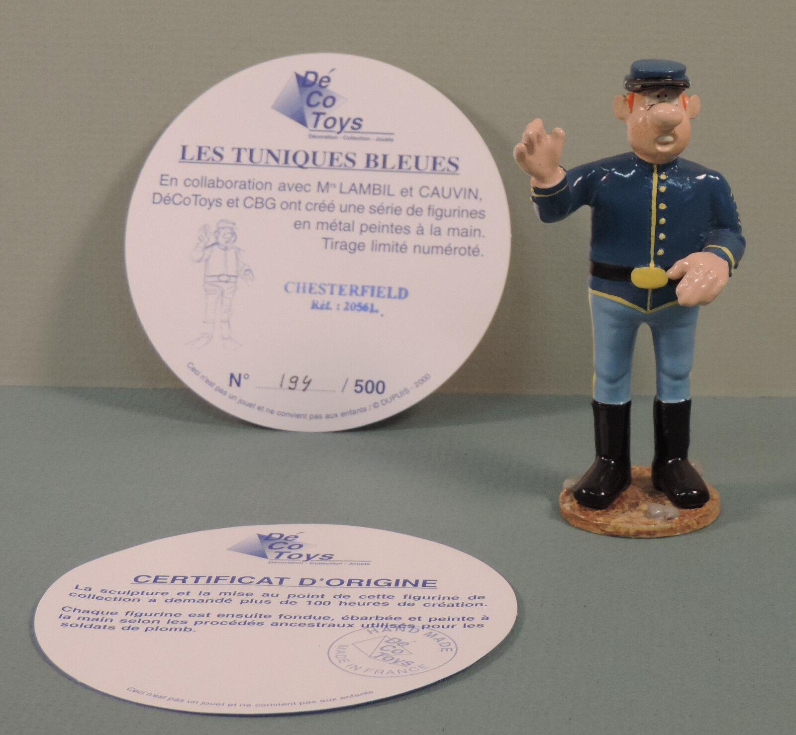 Tuniques Bleues statuette metal Chesterfield Decotoys 20561 limite