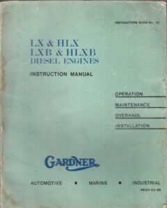 gardner 6lx 6hlx 6lxb 6hlxb 8lxb diesel engine factory owners rh ebay co uk gardner 6lxb workshop manual