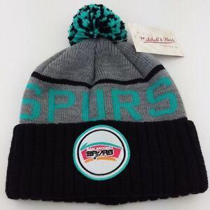 2f4afc65661e12 San Antonio Spurs Cuffed Knit Pom Beanie/MLB/Winter Hat/Mitchell ...