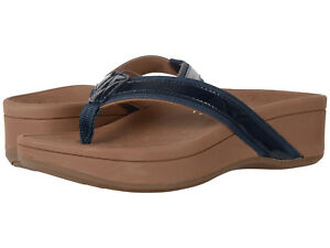 f0a1b16bff58 NEW WOMEN VIONIC SANDALS PACIFIC NAVY BLUE PATENT LEATHER ORIGINAL ...
