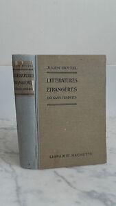 Julien Boitel - I Letterature Straniere - 1929 - Libreria Hachette